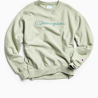 Champion & Urban Outfitters Script Logo Crew Neck Sweatshirt | Urban Outfitters