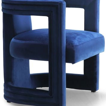 Blair Navy Velvet Accent Chair
