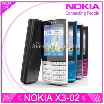 Refurbished Original Nokia X3-02 3G Mobile Phone 5.0MP with Russian Keyboard 5 Colors In Stock Free Shipping