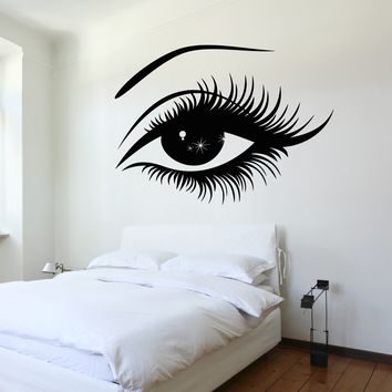 Vinyl Decal Wall Decal Woman's Eyes Sexy Girl Bedroom Sticker Unique Gift (z3223)