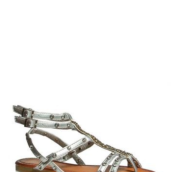 Beaded Strappy Gladiator Sandals