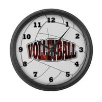 Hot Volleyball Large Wall Clock on CafePress.com