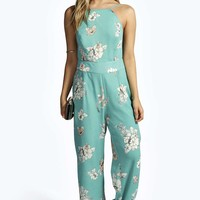 Charlotte Floral Chiffon Strappy Back Jumpsuit