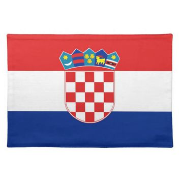 Croatian Flag on MoJo Placemat