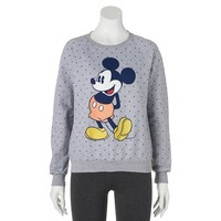 Disney's Mickey Mouse Small Dot Sweatshirt - Juniors