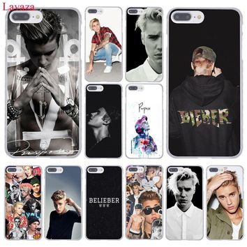 Lavaza Fashion JUSTIN BIEBER Super Star Hard Phone Case for Apple iPhone 8 7 6 6S Plus X 10 5 5S SE 5C 4 4S
