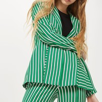 Striped Suit Jacket | Topshop