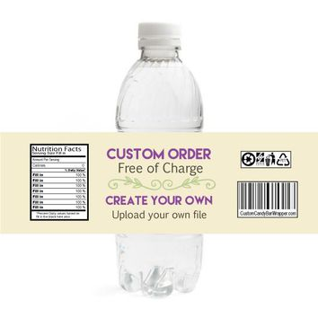 Custom Graduation Water Bottle Labels