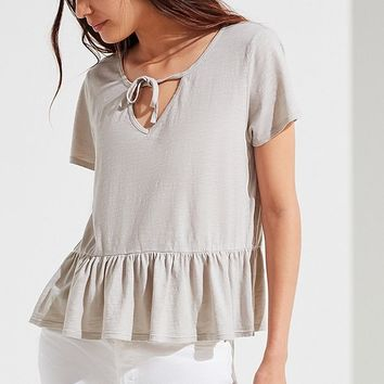 Truly Madly Deeply Tie-Front Babydoll Top | Urban Outfitters