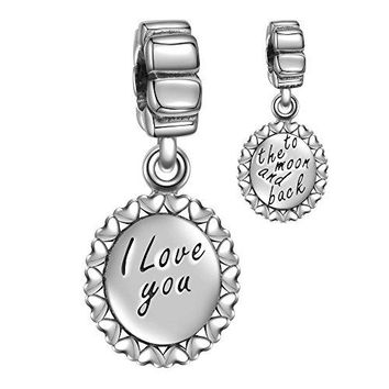 Angemiel 925 Sterling Silver Black Dog Paw Prints Love Pet Charms Fit EuropeanSnake Bracelets