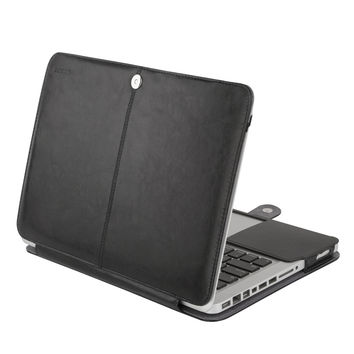 Mosiso for Macbook Pro 13 old Type 2012 PU Leather Sleeve Case Cover  A1278 with CD Drive Year 2008-2012