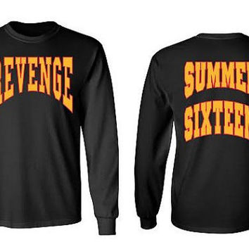 Drake Revenge Summer Sixteen Tour black long sleeve shirt