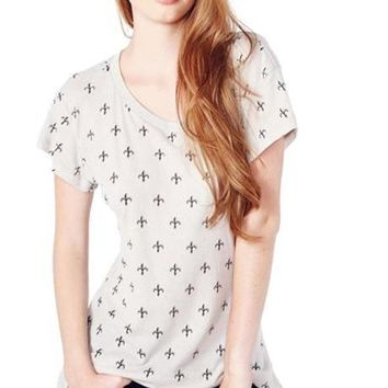 2 Colors T-shirts Print Crew Neck Short Sleeve Tops Women Loose Soft Casual Tees