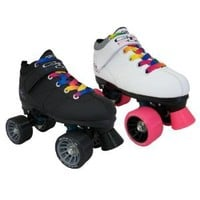 Pacer Mach-5 GTX500 Quad Speed Roller Skates with Rainbow Laces