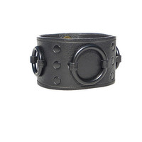 Lucky Dog Ring Cuff - Black on Black