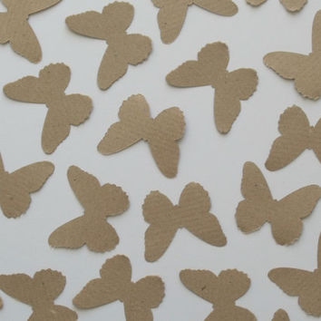 Confetti Butterfly , Brown kraft , Unique decoration , Decorations for rustic summer weddings , birthdays , Baby showers and christenings
