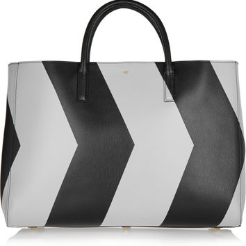 Anya Hindmarch - Ebury Maxi reflective chevron leather tote