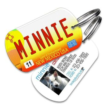 New Mexico License Plate Pet Tag