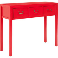 Marjorie Console, Red, Console Table