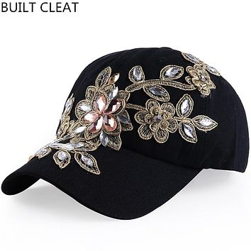 (BUILT CLEAR) casquette2014 Fashionable denim autumn snapback caps baseball hat hat sports canvas cap for women of good quality