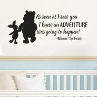 Pooh Inspired I Knew When I Met You Adventure Vinyl Wall Decal Sticker