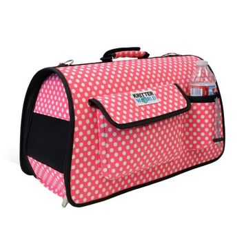 KritterWorld Portable Soft-sided Pet Travel Carrier House Kennel for Small Medium Puppy Dog Cat Tote Crates Shoulder Bag with Storage Pockets - Walmart.com