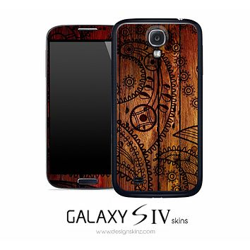 Tattooed Wood Skin for the Galaxy S4