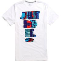 Nike SB Dri-Fit Future Hazard T-Shirt - Mens Tee - White -