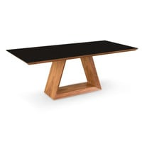 Lagarno Dining Table Walnut W/Glass Top