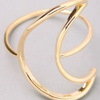 Gold Open Crescent Moon Ring
