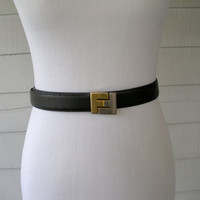 Fendi Vintage Leather Belt