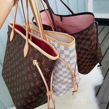 Louis Vuitton LV Trending Ladies Shopping Bag Leather Tote Handbag Shoulder Bag(3-Color) I
