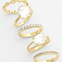 Women's Ariella Collection Mixed Stackable Rings (Set of 5)
