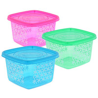 Bulk Sure Fresh 33-oz. Trendy Square Plastic Storage Containers, 2-ct. Packs at DollarTree.com