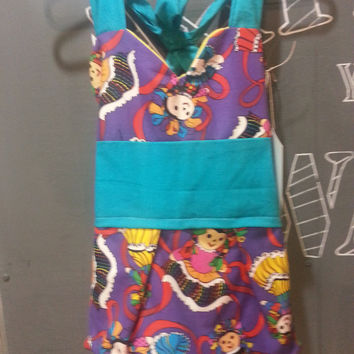 Toddlers Vintage Inspired Apron Mexican Doll