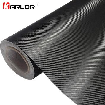 30cm x 127cm 3D Carbon Fiber Vinyl Car Wrap Sheet