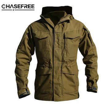 M65 Army Clothes Tactical jacket Windbreaker Men bomber jacket Thermal Flight Pilot Coat Male Hoodie Military Field Jacket Coat