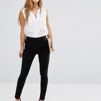 ASOS PETITE High Waist Pants in Skinny Fit in Shorter Length at asos.com