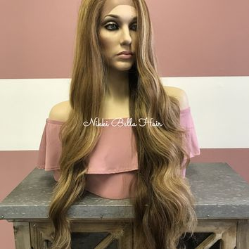 """Honey Blond 30"""" Swiss lace front wig 