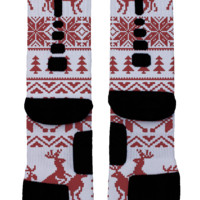 Christmas Climax Red Custom Nike Elites