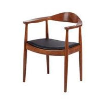 Hans J. Wegner Kennedy Style Dining Chair Arm  Chair Dark Walnut Wishbone