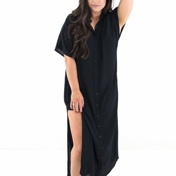 Women's Amuse Society Tranquilo Button Front Maxi Dress
