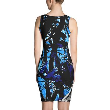 Turquoise Blue Camo Sublimation Dress