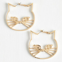 Quirky A Tail of Two Kitties Earrings by ModCloth