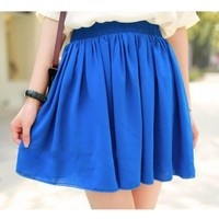NEEWER® Fashion Women Girls High Waist Pleated Chiffon Short Mini Skirt (Blue)