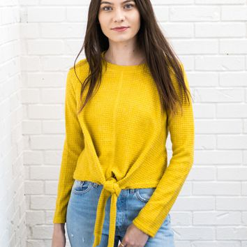 Marigold Front Tie Sweater