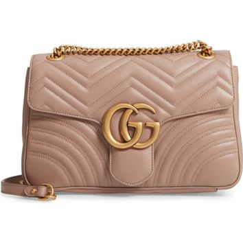 Gucci Medium GG Marmont 2.0 Matelassé Leather Shoulder Bag | Nordstrom