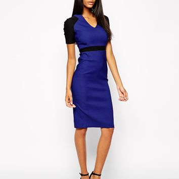Vesper Sexy Pencil Dress in Colo