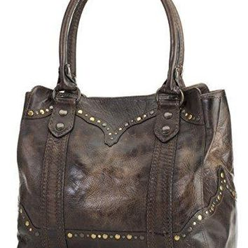 Stud Leather Tote Bag