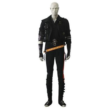 2016 newst DHL shipping Michael Jackson Bad Cosplay costume Michael jackson costume for adult men halloween costume
